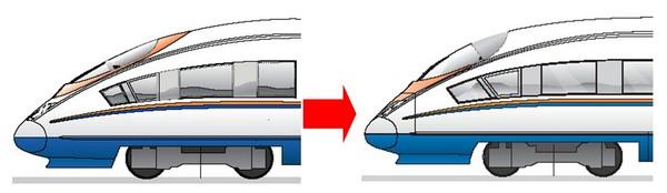 От Velaro E к Velaro Rus - Изменение формы головного вагона