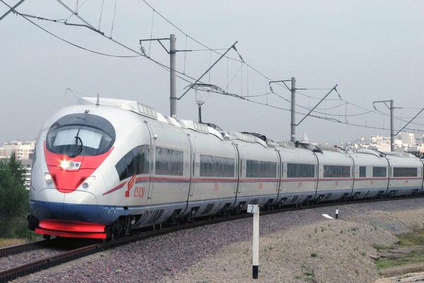 Электропоезд на Экспериментальном кольце ВНИИЖТ в Щербинке
